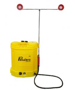 Pompa stropit electrica Pandora 20L, 7.5 Bar (model nou cu pompa dubla), 2 Tije pentru ierbicidat concomitent cu 2 duze