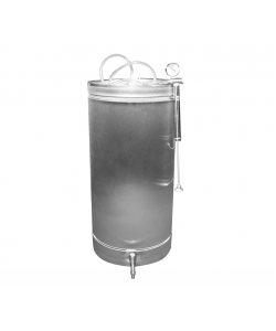 Butoi INOX 102 L cu capac flotant si canea