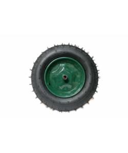 Roata roaba verde 350-8 cu ax mic