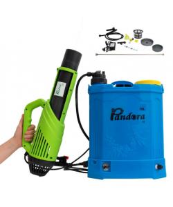 Pompa stropit cu acumulator 16L Pandora + Atomizor electric portabil 30W