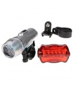 Lanterna bicicleta + licurici (5 led + 5 led) - bright