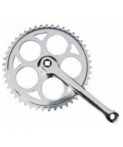 Angrenaj pedalier bicicleta 1 foaie - patrat 46t