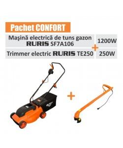 """Pachet """" Confort """"(masina tuns gazon electrica Ruris SF7AI06 si trimmer electric Ruris TE250)"""