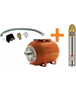 Kit pompa + hidrofor Ruris Dunarea, 50l, cablu 15m, 750 W