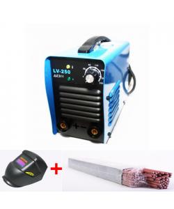 Aparat de sudura cu invertor LV250 Micul Fermier 1 + masca+electrozi, Invertor, MMA, 250 A