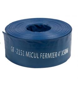 "Furtun apa refulare Flat PVC 4"" 50M 2 bar"