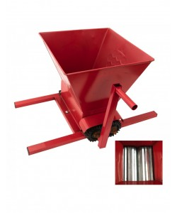 Zdrobitor de struguri manual role din aluminiu