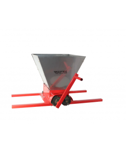 Zdrobitor de struguri Tatta TZ-1801 IN, capacitate maruntire 300 kg/h, cuva 25 l, Inox, Rosu