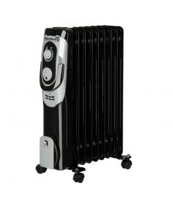 Calorifer electric , 2000 W, 9 elementi, 3 nivele de putere, termostat reglabil, Negru
