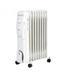 Calorifer electric,  9 elementi, 3 nivele de putere, termostat reglabil, Alb